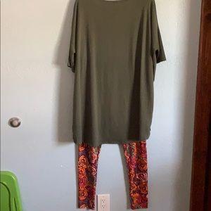 LuLaRoe Tops - 2XL - LulaRoe Outfit - Irma Top with Legging